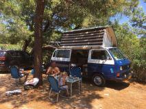 Op de camping...